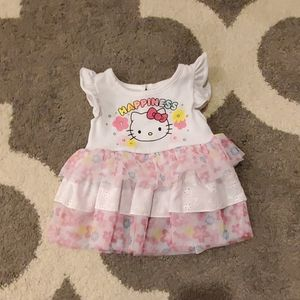 Hello Kitty playful fun comfy 2t dress, NEW
